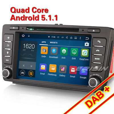 "8""HD Android 5.1 Car GPS Sat Nav for SKODA OCTAVIA DAB+DVD Player Stereo 3G WiFi"