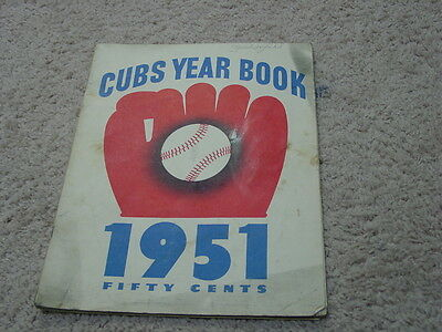1951 Chicago Cubs Yearbook VG