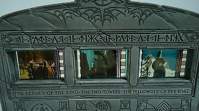 LORD OF THE RINGS Film Frame Collectible 3 Unique Film Cells Sideshow-Weta VGUC