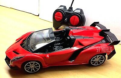 LAMBORGHINI Remote Control Open Roof Fast Drifting LED Car 1:16 - Rechargeable