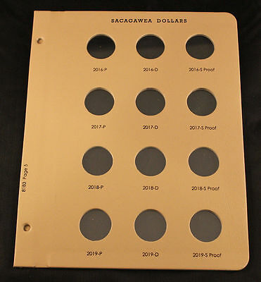 DANSCO COIN PAGES NATIVE SACAGAWEA DOLLARS #8183 Page 5 For 2016-2019 PDS Proof