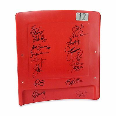 Ny Giants Seat Back 17 Signatures Eli Manning Taylor Simms Barber Bavaro Steiner