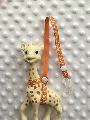 Naturel Giraffe,Sophie the GiraffeToy saver Strap  with clip  (Buy 2 get 1 Free)
