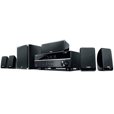 Yamaha YHT-1810B AV Receiver 5.1 4K Ultra HD HDMI 3D Home Theatre Speaker Pack
