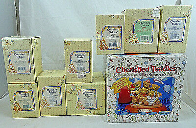 Lot of 9 Cherished Teddies 1996 New Old Stock In The Boxes