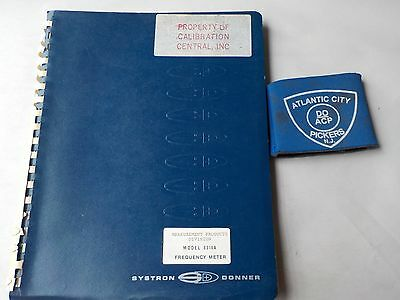 Systron Donner Model 6316A Frequency Meter Instruction Manual