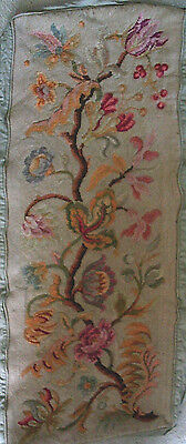 "Antique Floral Needlepoint Canvas 44"" x 20"" Tapestry Piano Bench Cover 10 PER """
