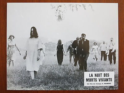 NIGHT OF THE LIVING DEAD 10 Original French Lobby Cards R80s George A. Romero