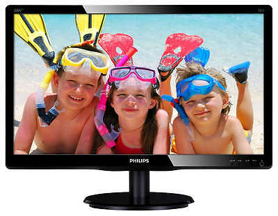"""Philips 200V4LAB2/00 20"""" LCD Monitor with LED Backlight & Speakers 1600x900 DVI"""