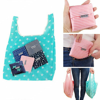 Top Printing Foldable Shopping Bag Tote Folding Pouch Large-Capacity Bag HE CA