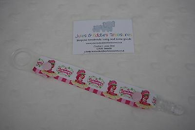 Dummies Clips ,Holder/Dummy/Soother/Pacifier/chain Strawberry Shortcake