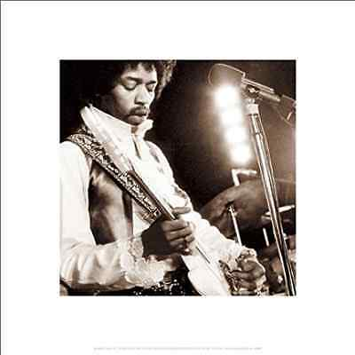 Jimi Hendrix Guiitar Close Up Psychedelic Rock Music Poster Print 16 by 16, New