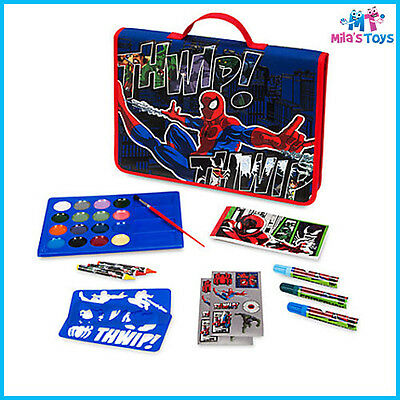 Disney Marvel Spiderman Art Folio Set with Carry Case crayons paints markers