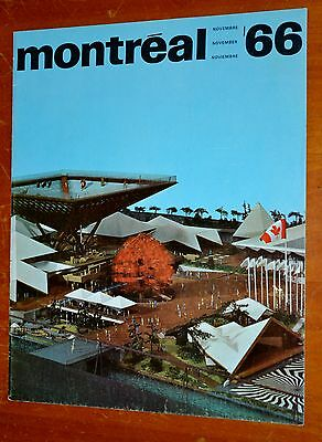 Expo 67 Canadian Pavillion On 1966 Montreal 66 Magazine Cover -Vintage 60S