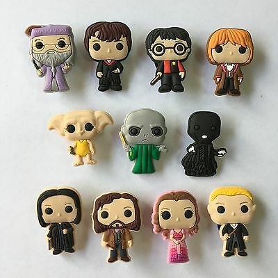 11pcs Harry Potter PVC Shoe Charms Accessories Fit Cro c&J ibbitz Kid Christmas