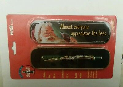 Unopened Coca-Cola Collectible Roller Ball Pen Christmas Santa FREE SHIPPING