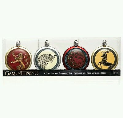 Game of Thrones Set of 4 pieces House Sigils Christmas decorations Ornaments