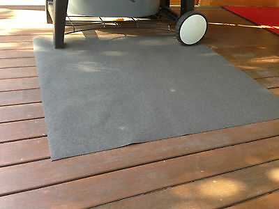 BBQ Splatter Patio Mat 1000 x 915mm to Protect your Timber Deck from Oil Spills