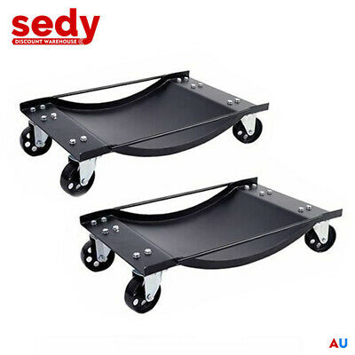 2x Wheel Dolly Vehicle Positioning Jack 450kg 1000lbs Car Dollies Trolley Jack