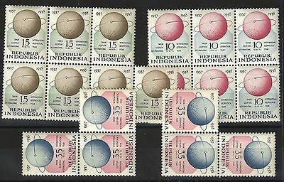 Indonesia 1958 - 19 MNH Stamps and 8 Used Stamps