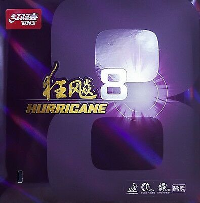 DHS Hurricane 8 Table Tennis Rubber Ping Pong Rubber