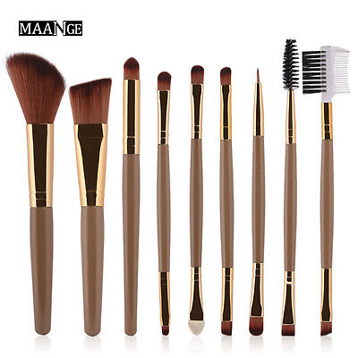 9 Pcs Makeup Brushes Set Powder Foundation Eye shadow Eyeliner Lip Brush Tool