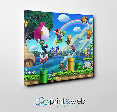 Super Mario Canvas Print Home Decor Art Kids Bedroom 2