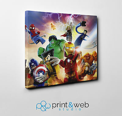Lego Avengers Canvas Print Home Decor Art Kids Bedroom Marvel Superhero
