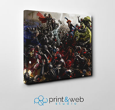 The Avengers Canvas Print Home Decor Art Kids Bedroom Marvel Superhero