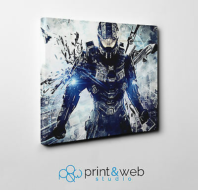 Halo Master Chief Canvas Print Home Decor Art Kids Bedroom