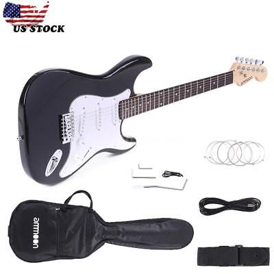 Full Size Electric Guitar with Case and Accessories Pack for Beginner Starter
