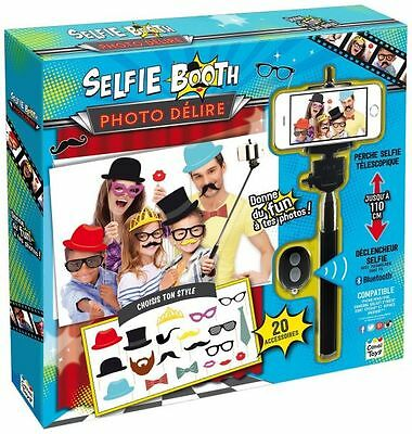 Selfie Photo Booth 20 Wedding Party Props With Extendable Bluetooth Stick