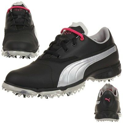 Puma BioPro Damen Golfschuhe Golf 187588 03 Waterproof Spikes black
