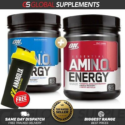 2 x OPTIMUM NUTRITION AMINO ENERGY 65 SERVES PRE WORKOUT ENERGY FOCUS