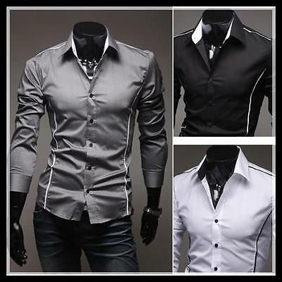 Collection Mens Luxury Casual Formal Slim-Fit Stylish Dress Shirt C5092