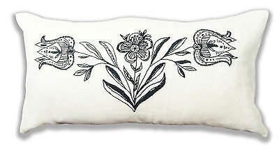 Floral Embroidery Bolster Cushion Kit - Anette Eriksson