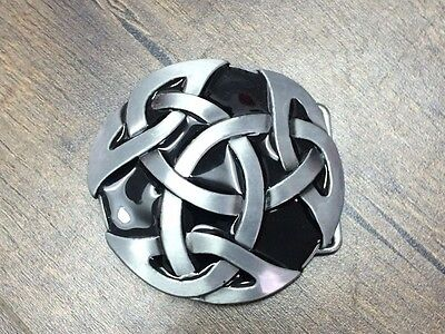 Round Celtic Knot Oval Plate  Belt  Buckle Comes With Free Display stand