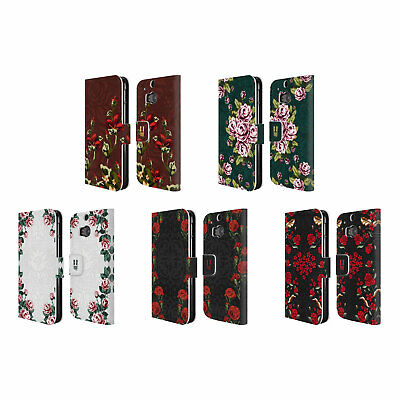 Head Case Designs Floral Art Deco Leather Book Wallet Case Cover For Htc One M8