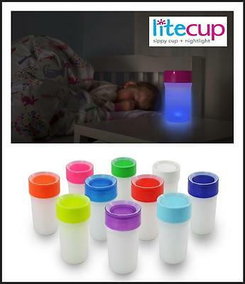 Little Litecup Sippy Night Light Cup 360 Degree Valve Kids Children Babies Drink