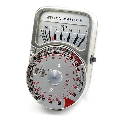Vintage Weston Master V Light Exposure Meter with Original Cases, Cone & Manual