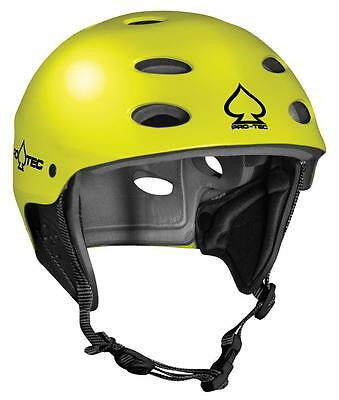 ProTec Ace Watersports Helmet Neon Yellow Rental with ear protevtor XL   XXL