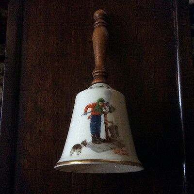 """1977 VTG Collectible Norman Rockwell """"Chilling Chore"""" Bell Gorham Fine China"""