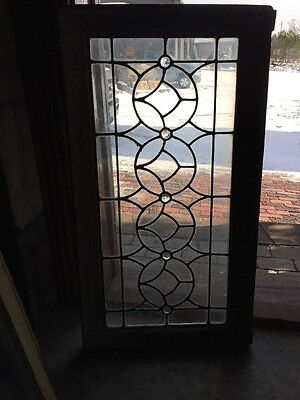 Sg 994 Antique Leaded Glass Transom Window With Jewels