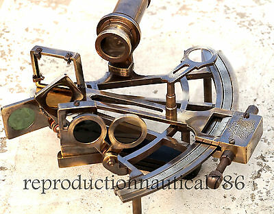 Vintage Brass Kelvin Working Sextant Collectible Nautical Ship Antique Sextant