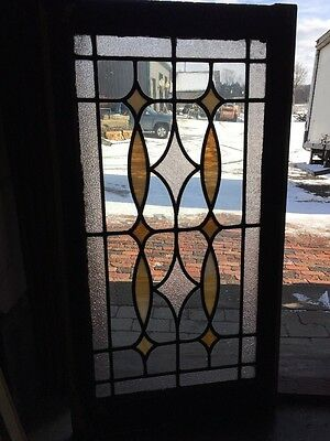 Sg 998 Antique Stained And Textured Glass Window 22 X 41