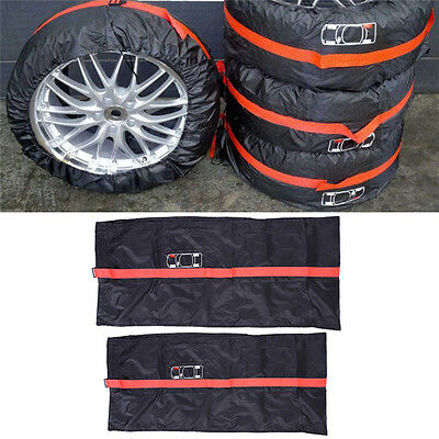 "4X Universal 17-19"" Car Spare Tire Cover Case Tyre Protector Storage Bag for SUV"