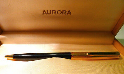 vintage but new Aurora ball point pen with parts in gold - golden christmas