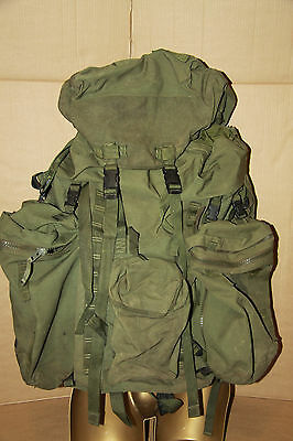 Genuine British Army Olive Bergen Rucksack120 L Side Pouches Longback Grade 2