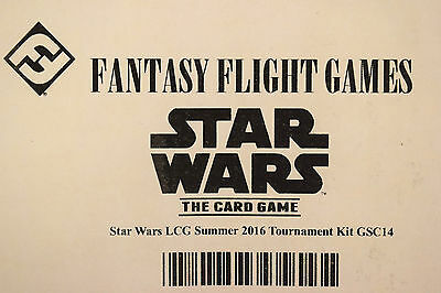 Fantasy Flight Games Star Wars Card Game 2016 Summer Tournament Kit Sealed
