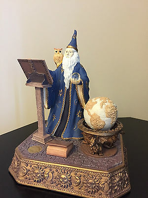 Merlin's Library Wizard Limited Edition Numbered S F Music Box Company Figurine